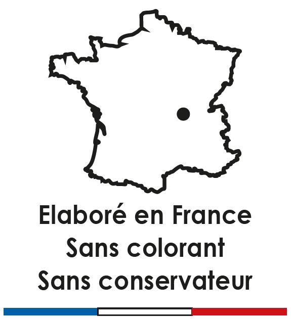4. Elaboré en France sans colorant sans conservateur