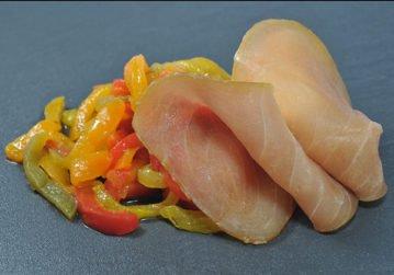 Marlin fumé et son confit de légumes
