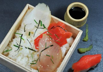 Assiette japonaise poissons fumés
