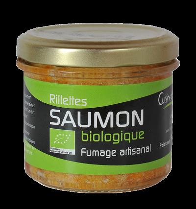Rillettes de saumon biologique fumées au bois de Chêne et de Hêtre