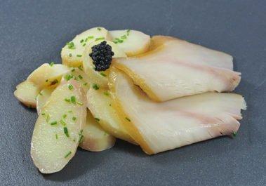 Salade esturgeon fumé pomme de terre