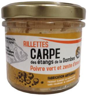 Rillettes carpe poivre verte zeste d'orange