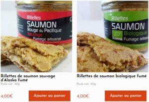 Achat rillettes saumon