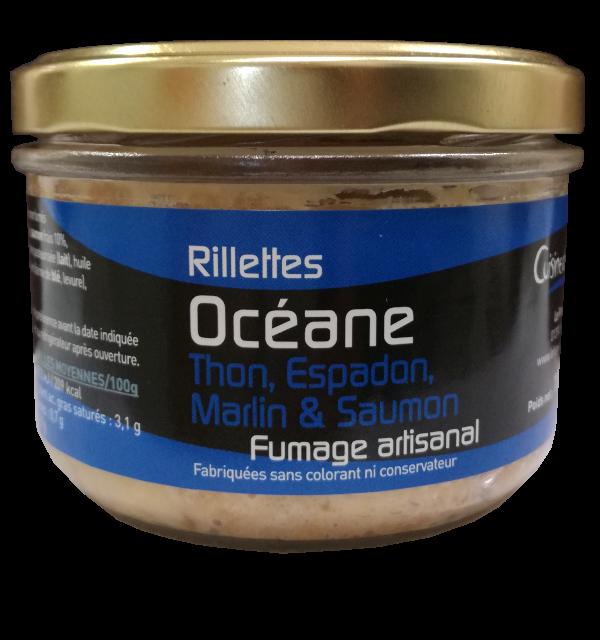 Verrine de rillettes Océane 180g (Thon, Espadon, Marlin et Saumon)