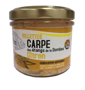 Pot de rillettes de Carpe Citron 90g