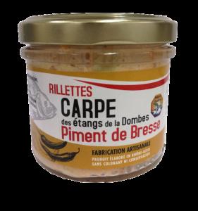 Pot de rillettes de Carpe Piment de Bresse 90g