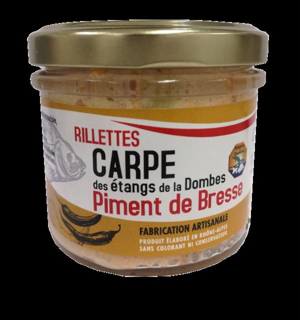 Verrine de rillettes de Carpe Piment de Bresse 90g
