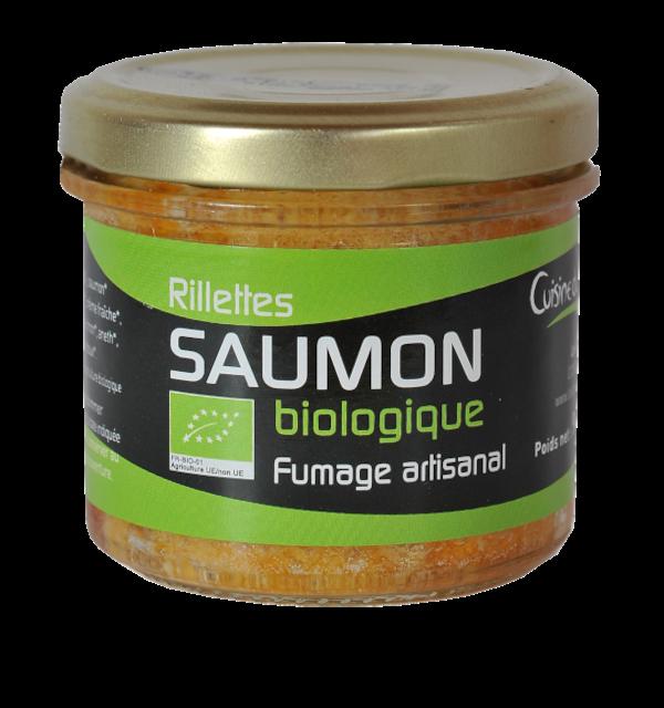 Verrine de rillettes de Saumon fumé biologique 90g