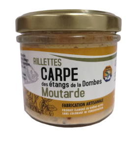 Pot de rillettes de Carpe Moutarde 90g